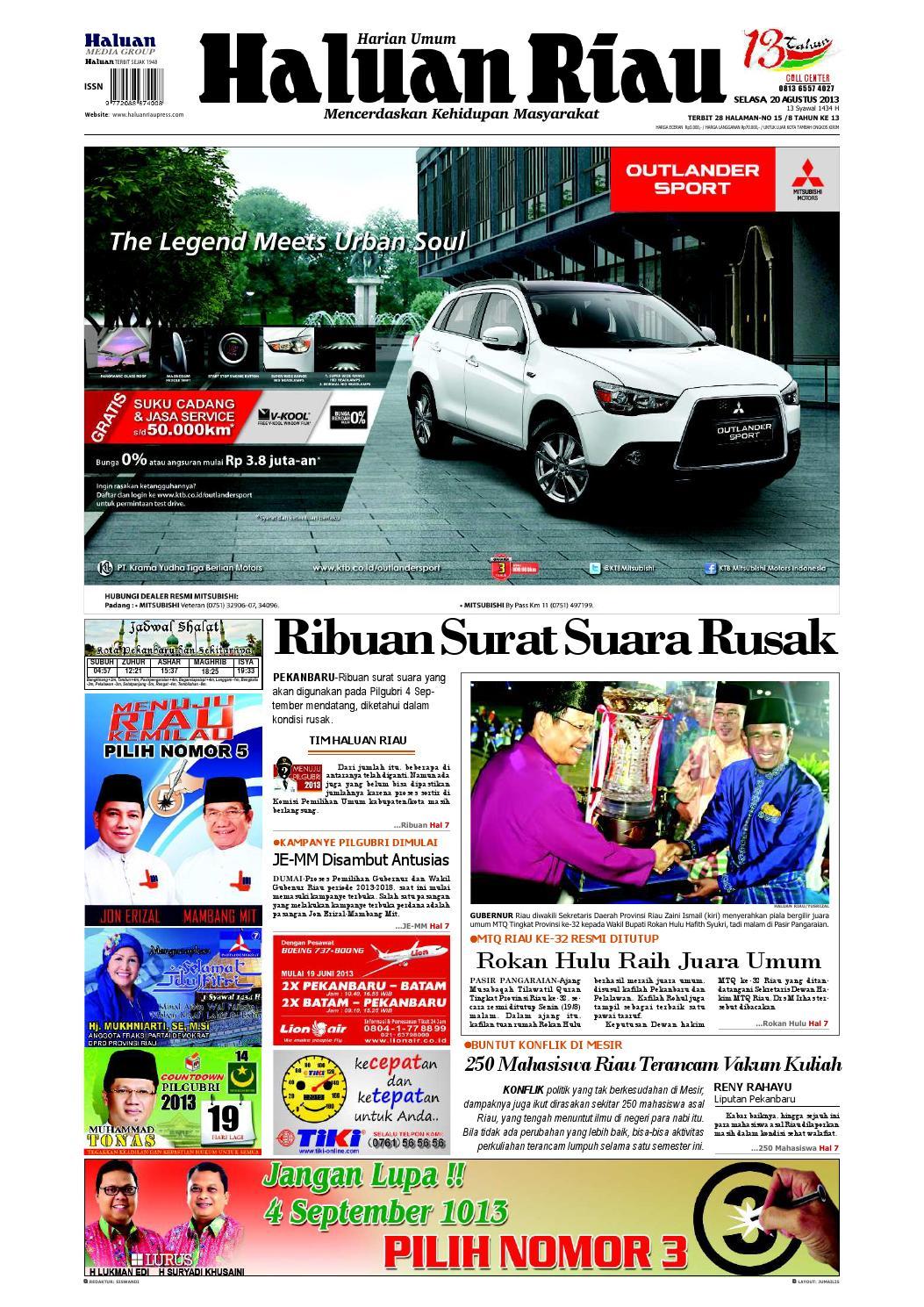 Haluanriau 2013 08 20 By Haluan Riau Issuu Produk Ukm Bumn Tekiro Tang Buaya 10