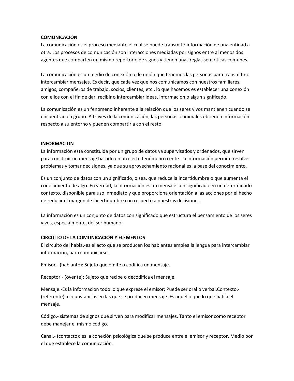 Circuito Que Habla : Comunicación informacion circuito by nathali castro issuu