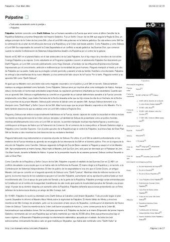 Palpatine Star Wars Wiki by Roberto Sastre - issuu