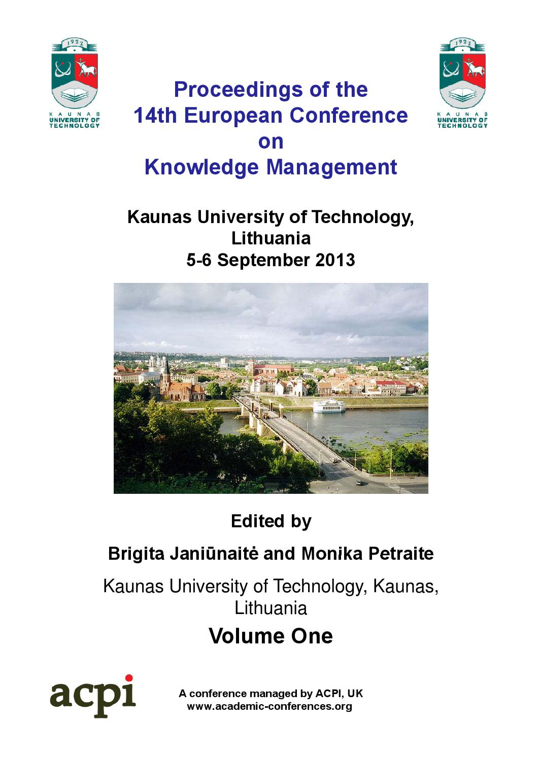 Proceedings Of The 14th European Conference On Knowledge Management Telephone Hybrid Circuit Diagram Eav Tech Jk Audio Eckm 2013 Volume 1 By Acpil Issuu