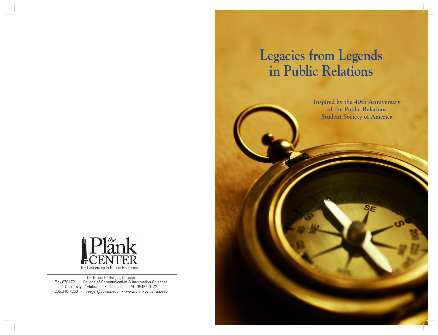 Legacy from Legends in Public Relations by Plank Center for