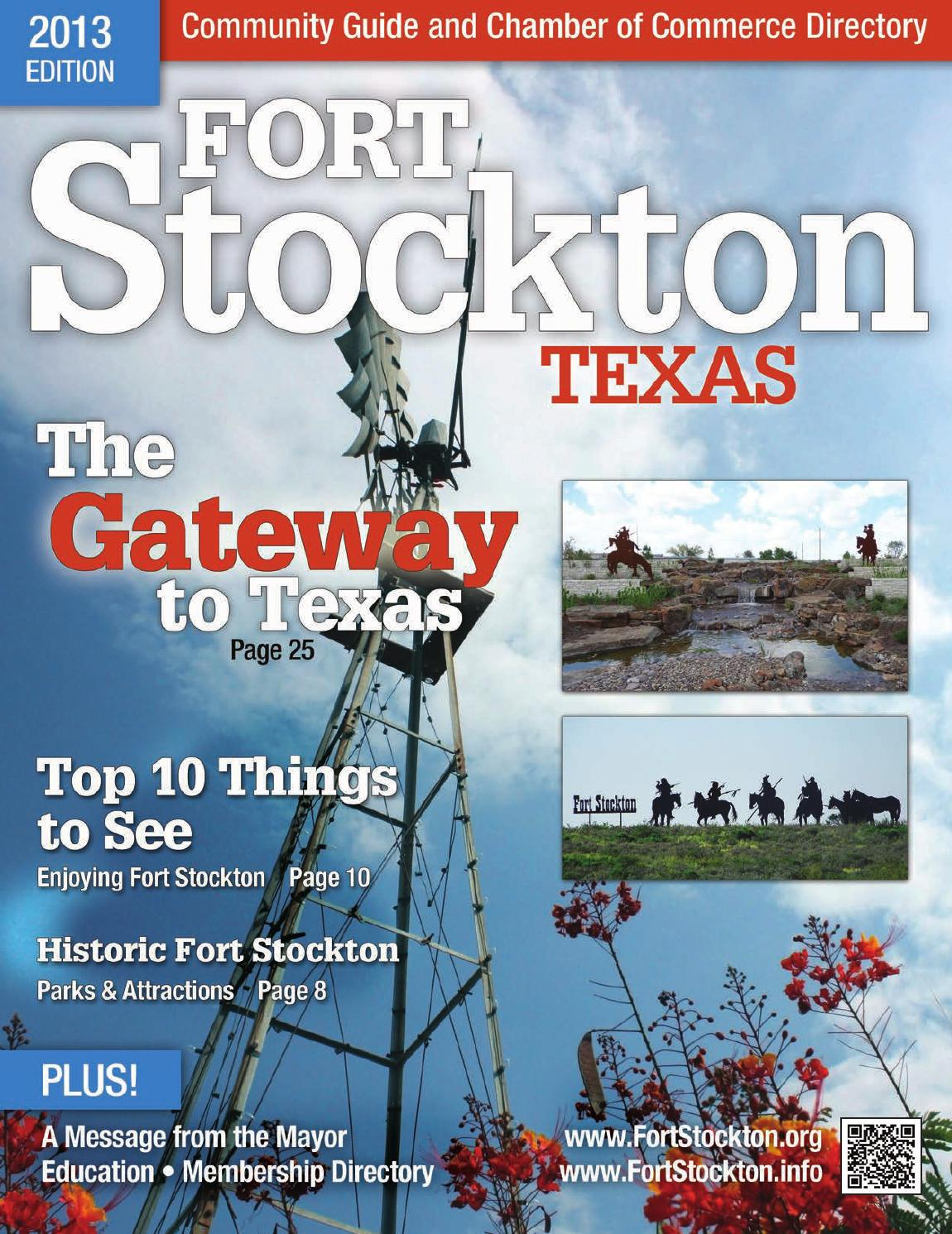 2013 Fort Stockton Community Guide And Chamber Of Commerce
