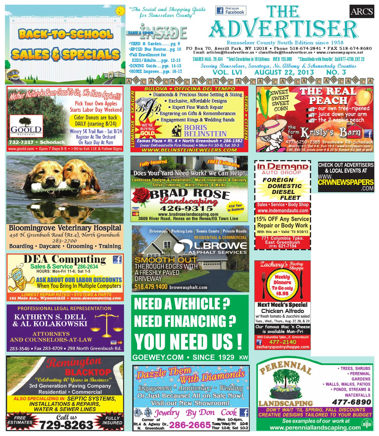 Advertiser South 082213 By Capital Region Weekly Newspapers Issuu Dazzle Guard Diamond Coating