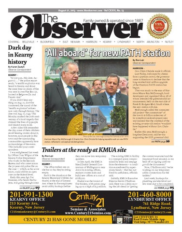 Aug  21, 2013 Edition of The Observer by Kevin Canessa Jr