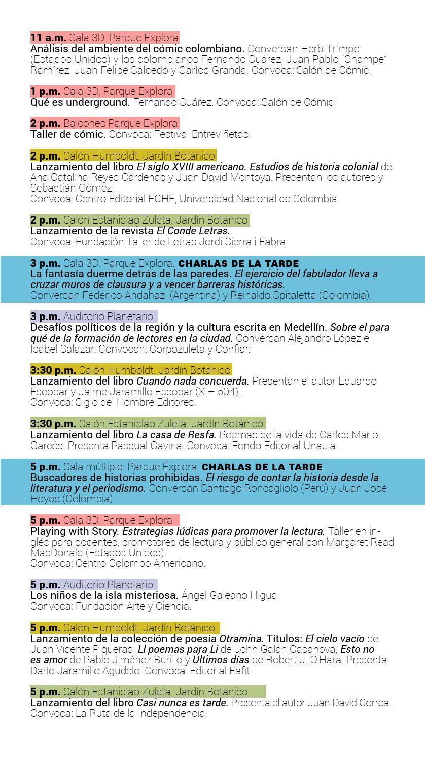 Programacion Fiesta Del Libro Y La Cultura 2013 By Eventos Del Libro