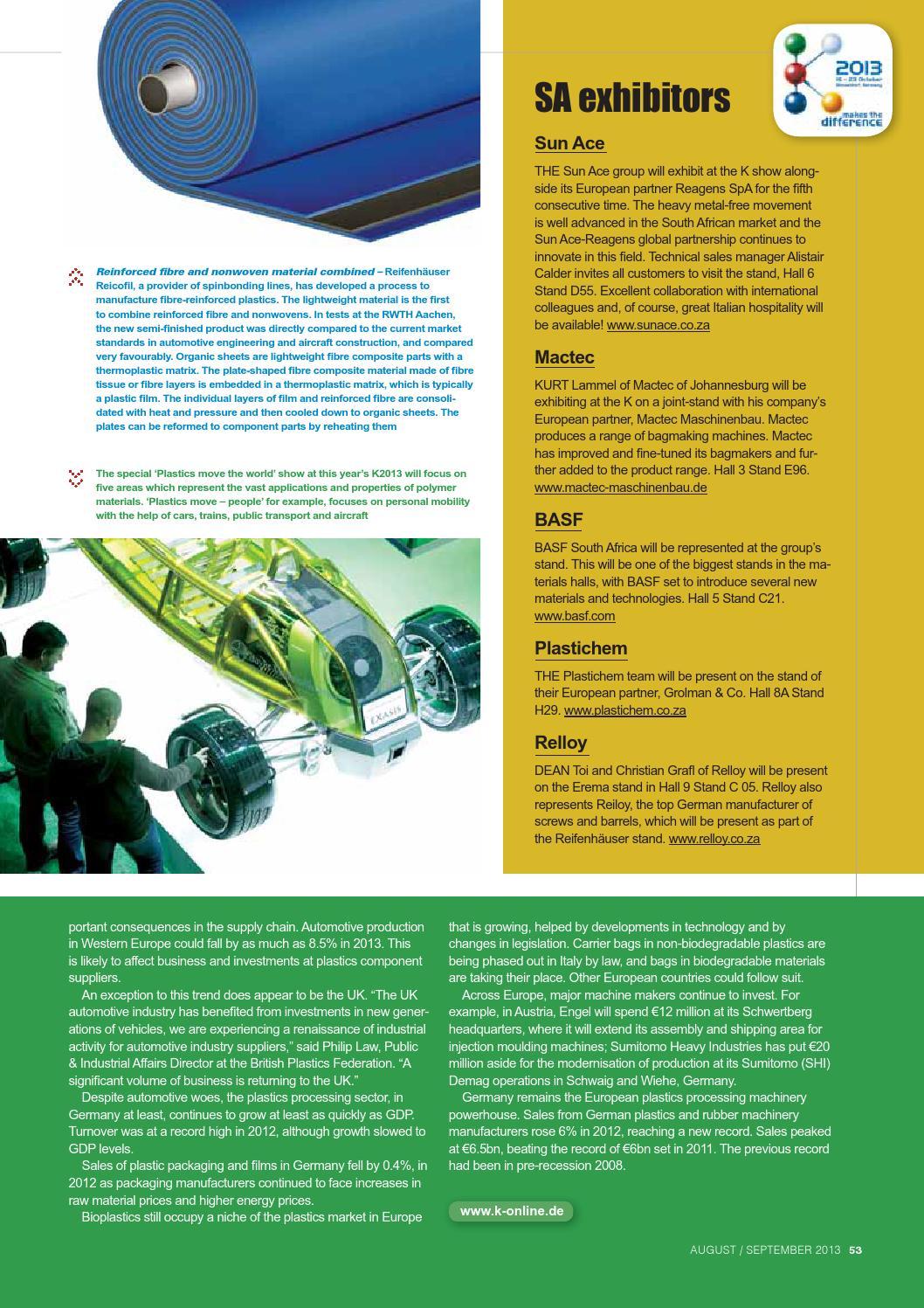 Sa plastics '013 08 for web by SA Plastics, Composites