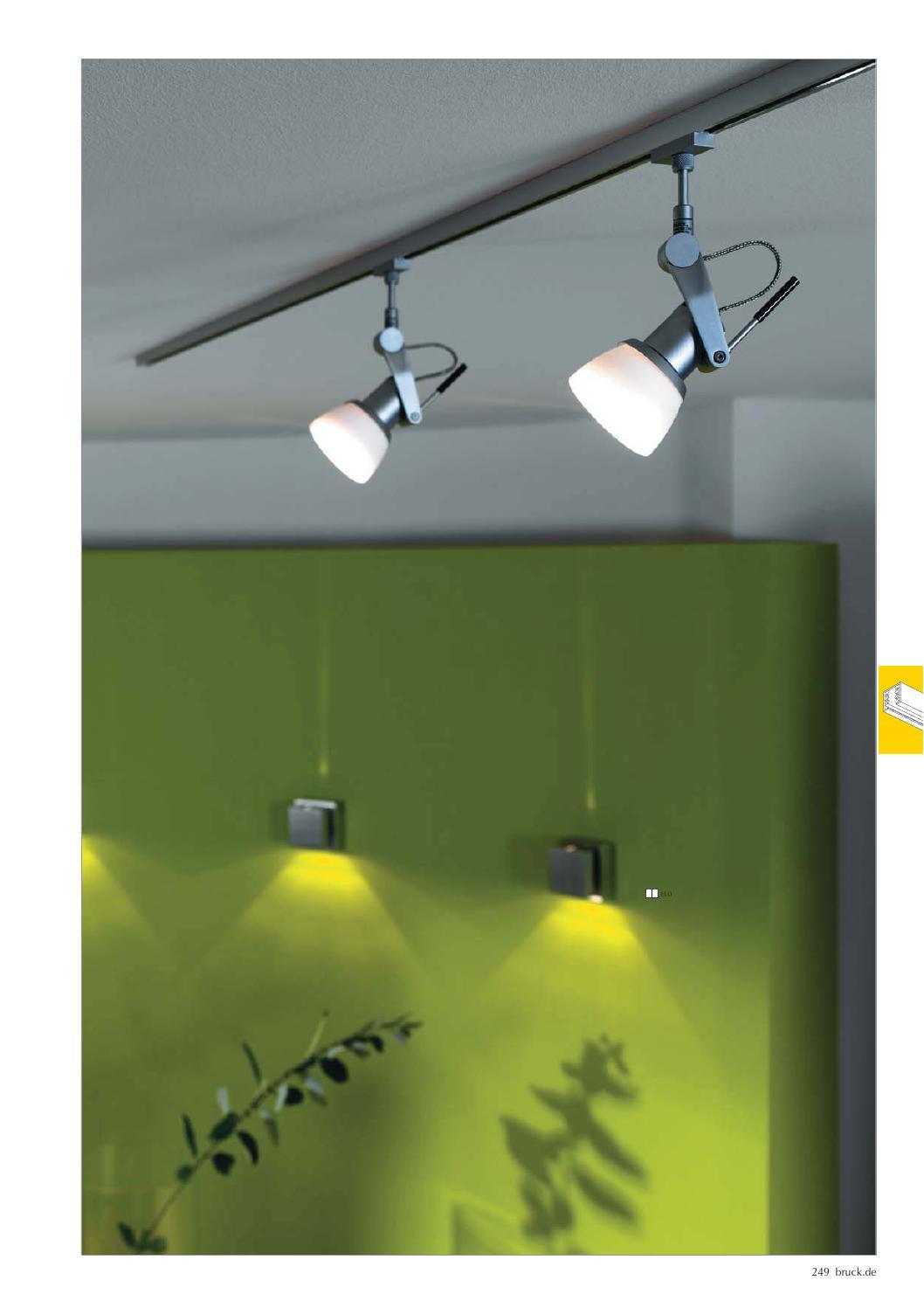 LED Wandlampe mit eckigem grauen Schirm /& Schalter Nickel matt Wohnzimmerlampe