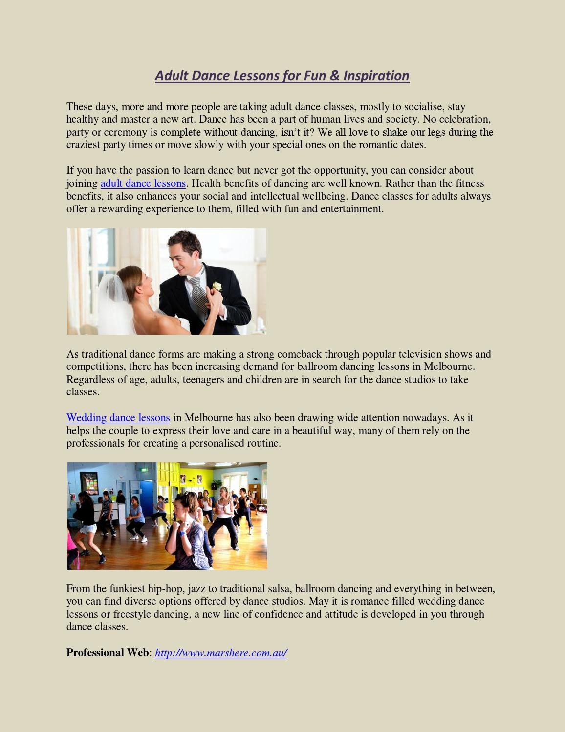 Adult Dance Lessons For Fun Inspiration By Dancing