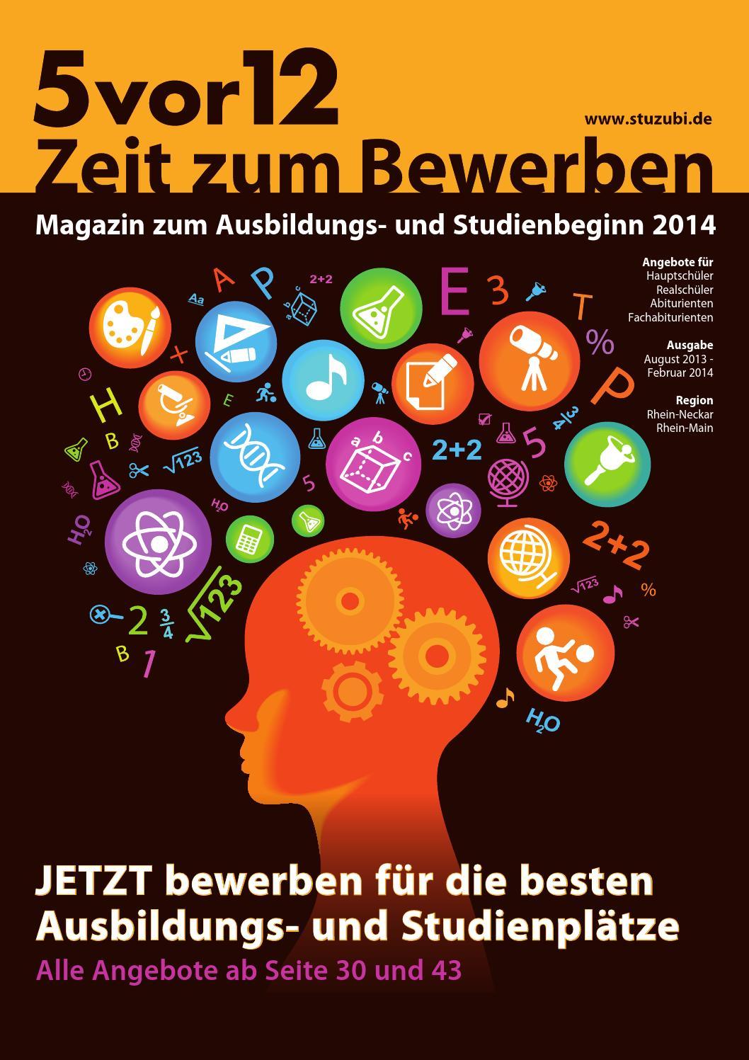 5vor12 - Zeit zum Bewerben für die Regionen Rhein-Main, Rhein-Neckar by  Stuzubi - issuu
