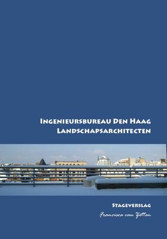 Stageverslag Landschapsontwerper Ingenieursbureau by F.P. van