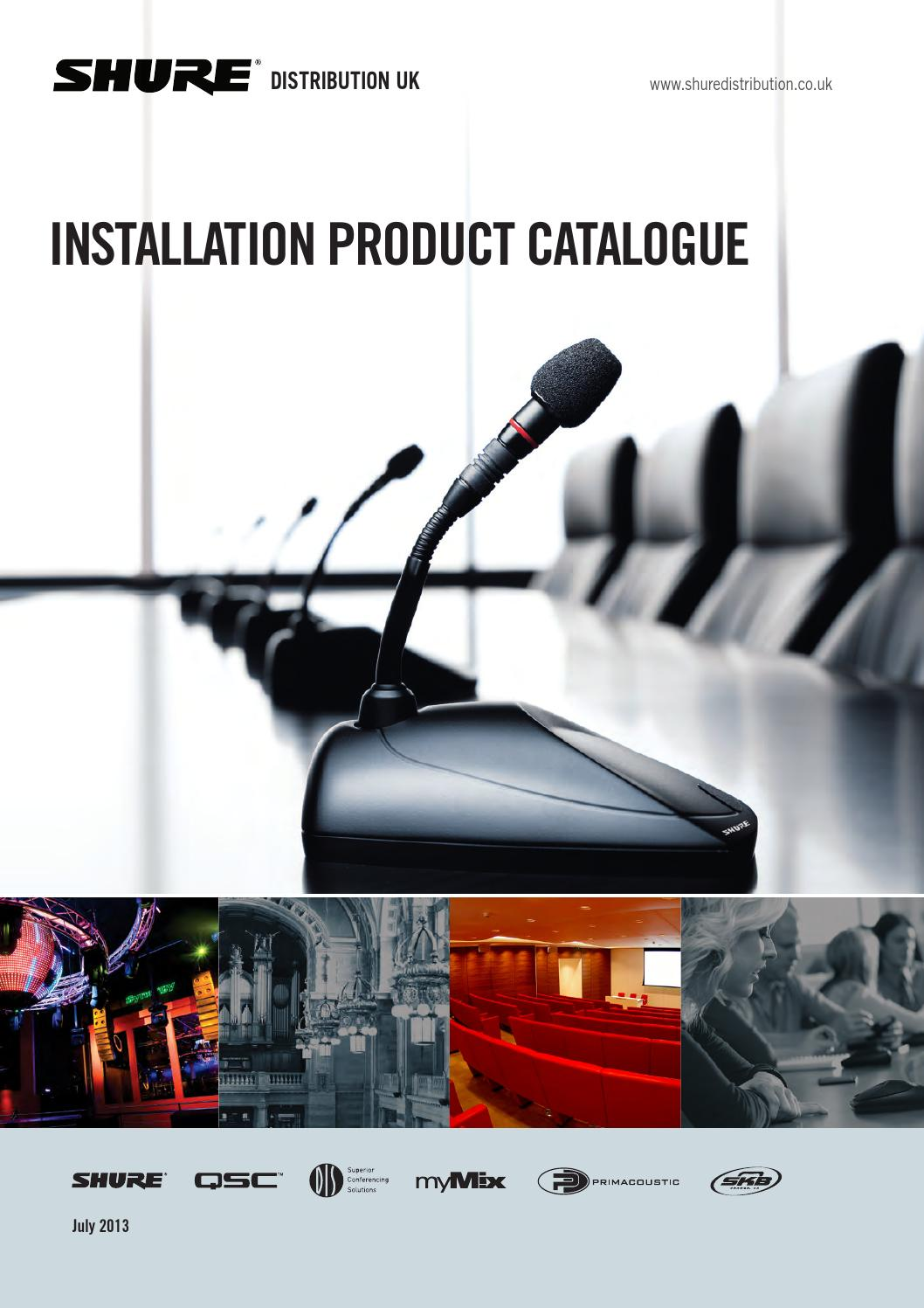Sduk installation catalogue by shure distribution issuu