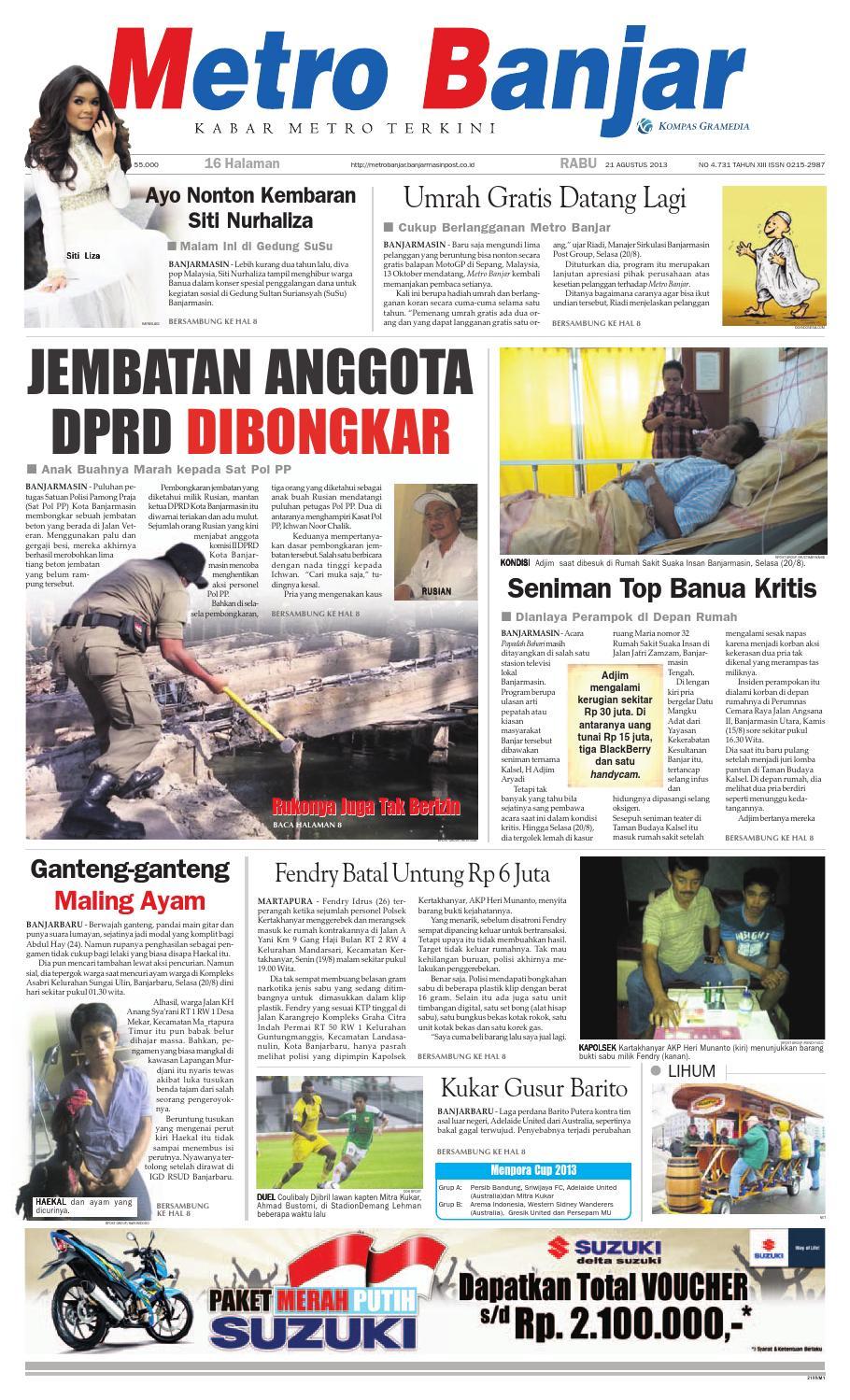 Metro Banjar Rabu, 20 Agustus 20 by Harian Metro Banjar   issuu