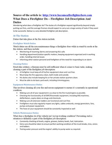 What Does A Firefighter Do  Firefighter Job Description And Duties