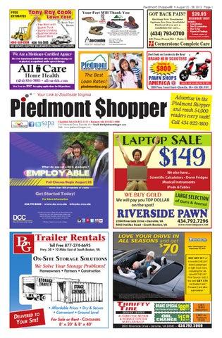 Piedmont Shopper 8.22.13 by piedmont shopper - issuu 96c1b75aa