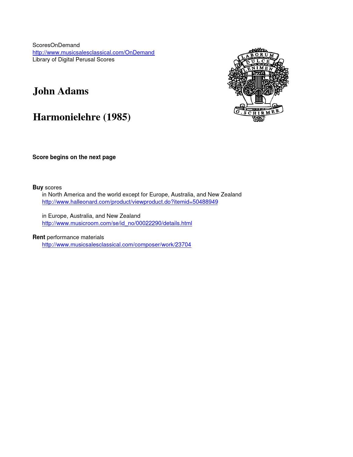 adams harmonielehre by scoresondemand issuu