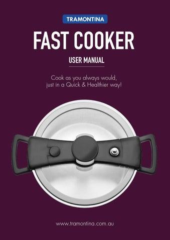 tramontina pressure cooker instructions