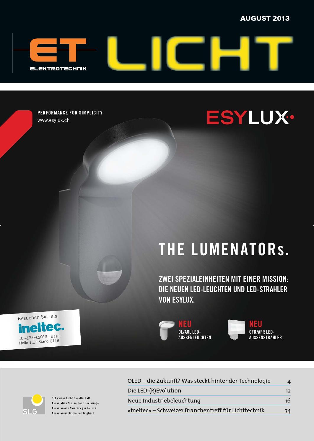ET Licht 2013/08 by AZ Fachverlage AG - issuu