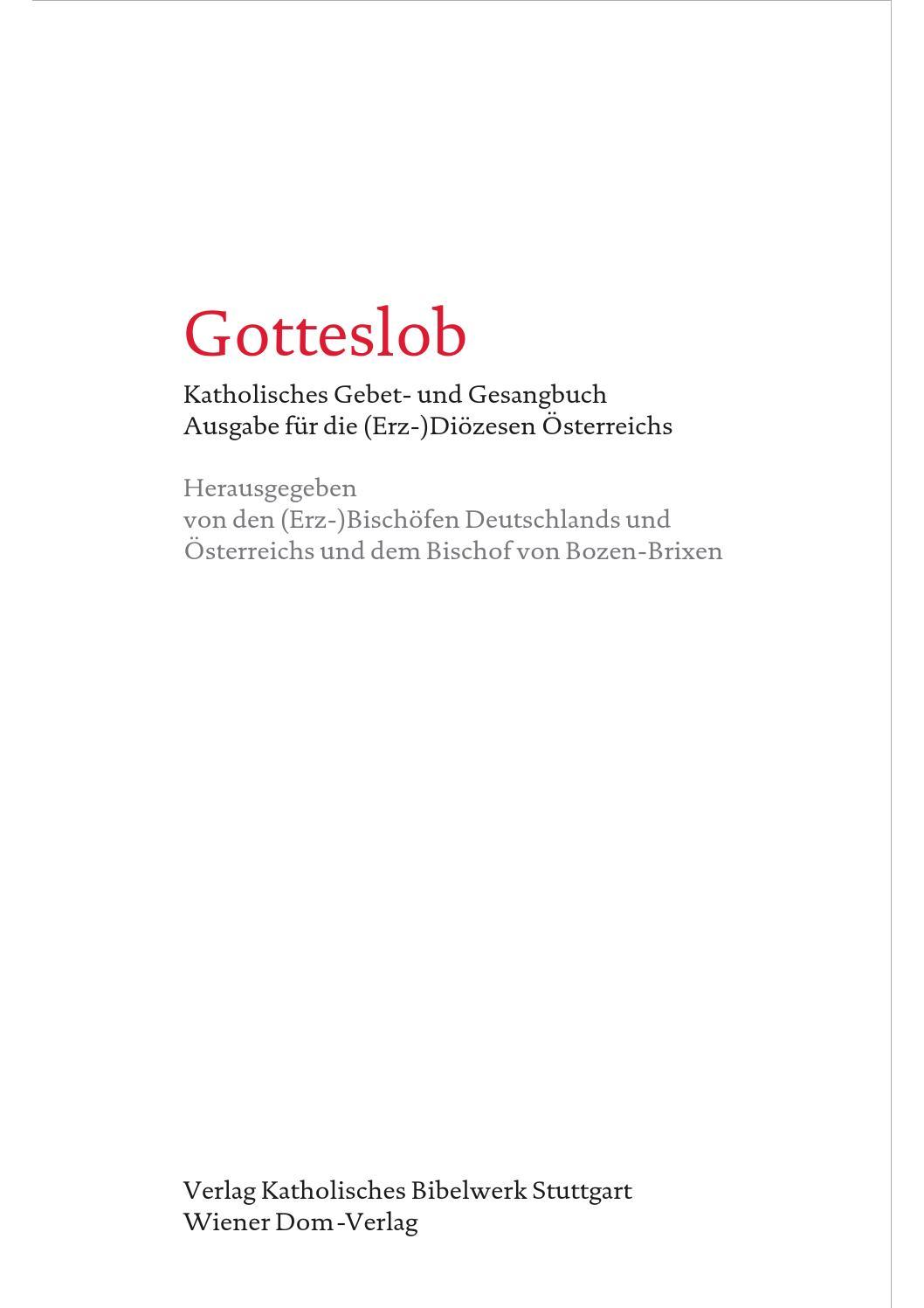 Katholisches gesangbuch gotteslob online dating