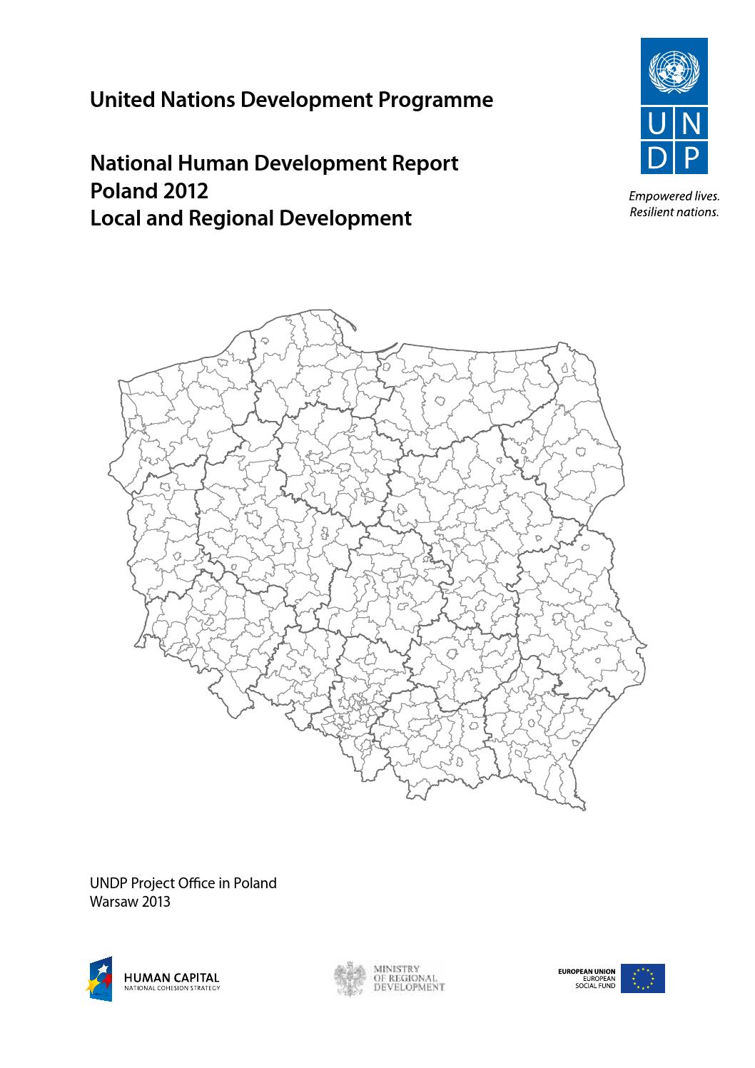 Undp National Human Development Report Poland 2012 Local And