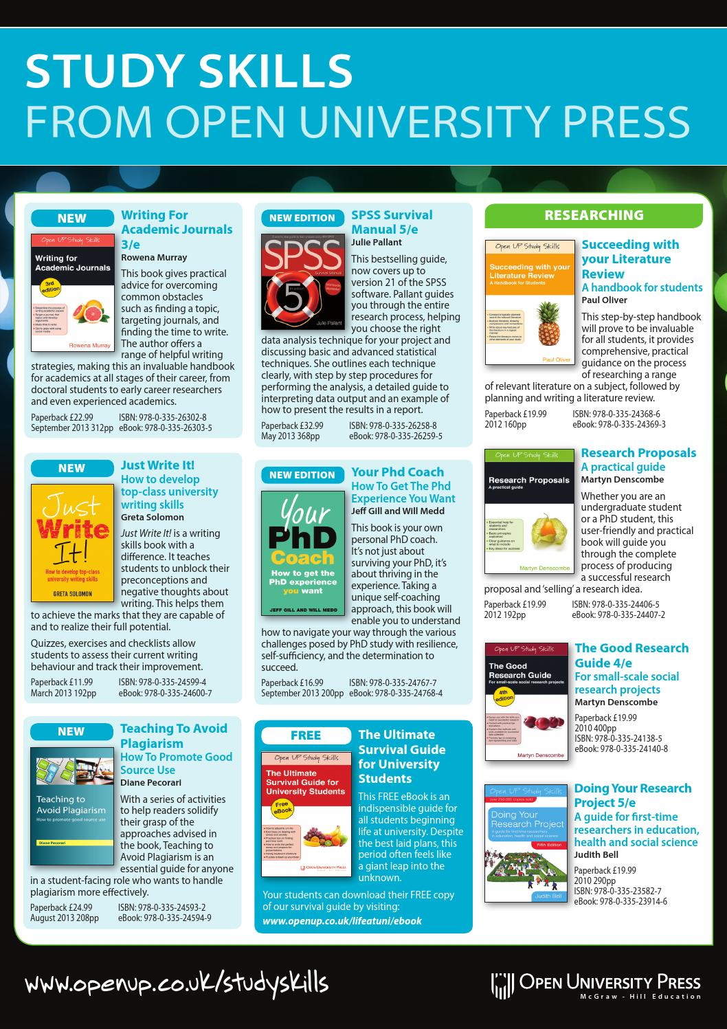 Study skills brochure 2013 by open university press issuu fandeluxe Choice Image