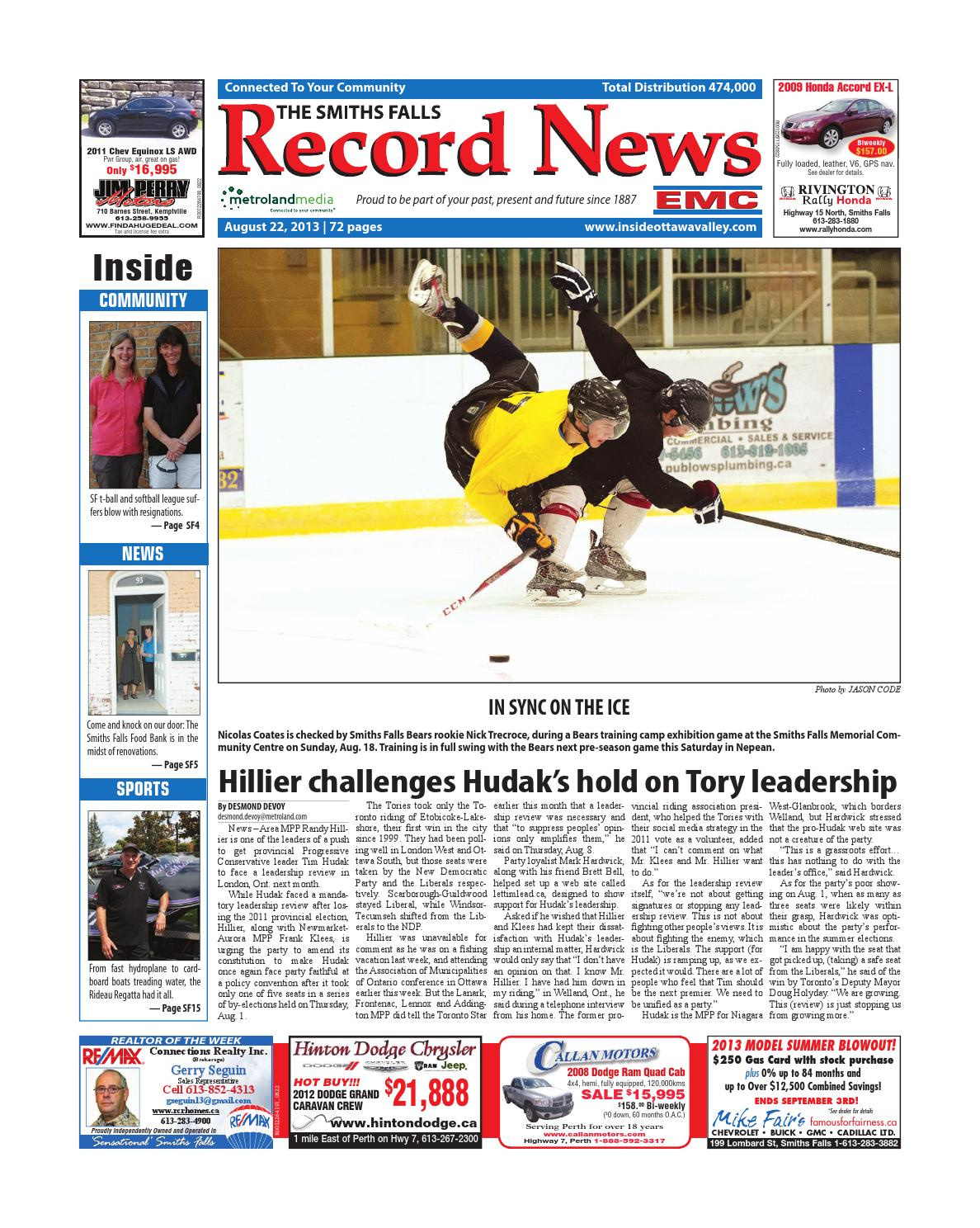 83b8b5cbb4f Smithsfalls082213 by Metroland East - Smiths Falls Record News - issuu