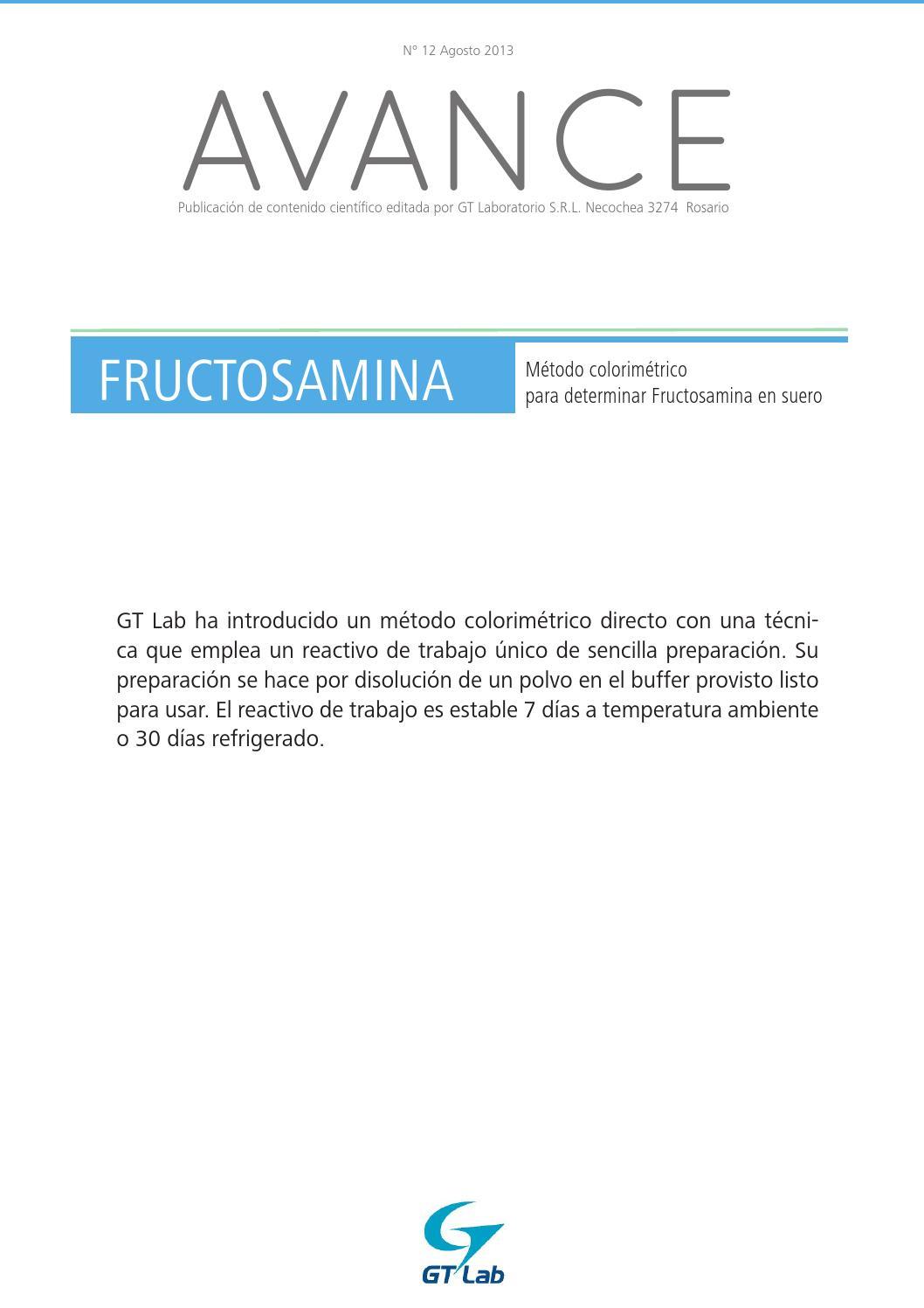 fructosamina en diabetes