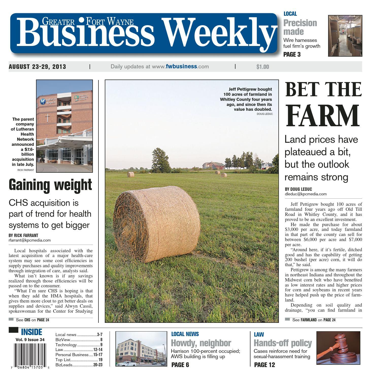 Greater Fort Wayne Business Weekly Jan 10 2014 by KPC Media