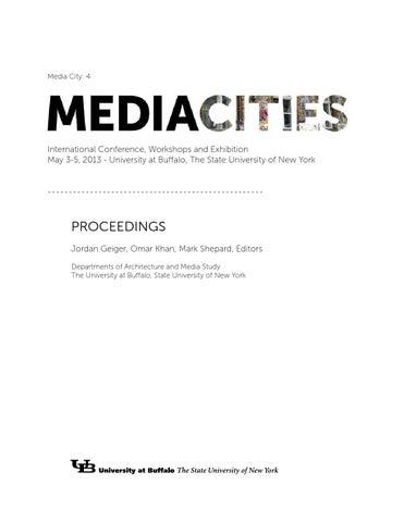 a028285c88e MediaCities  Proceedings by University at Buffalo School of ...
