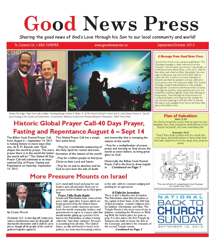 Good News Press Sept/Oct 2013 by Good News Press - issuu