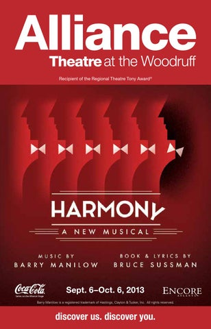 The Alliance Theatre Harmony A New Musical By Encore
