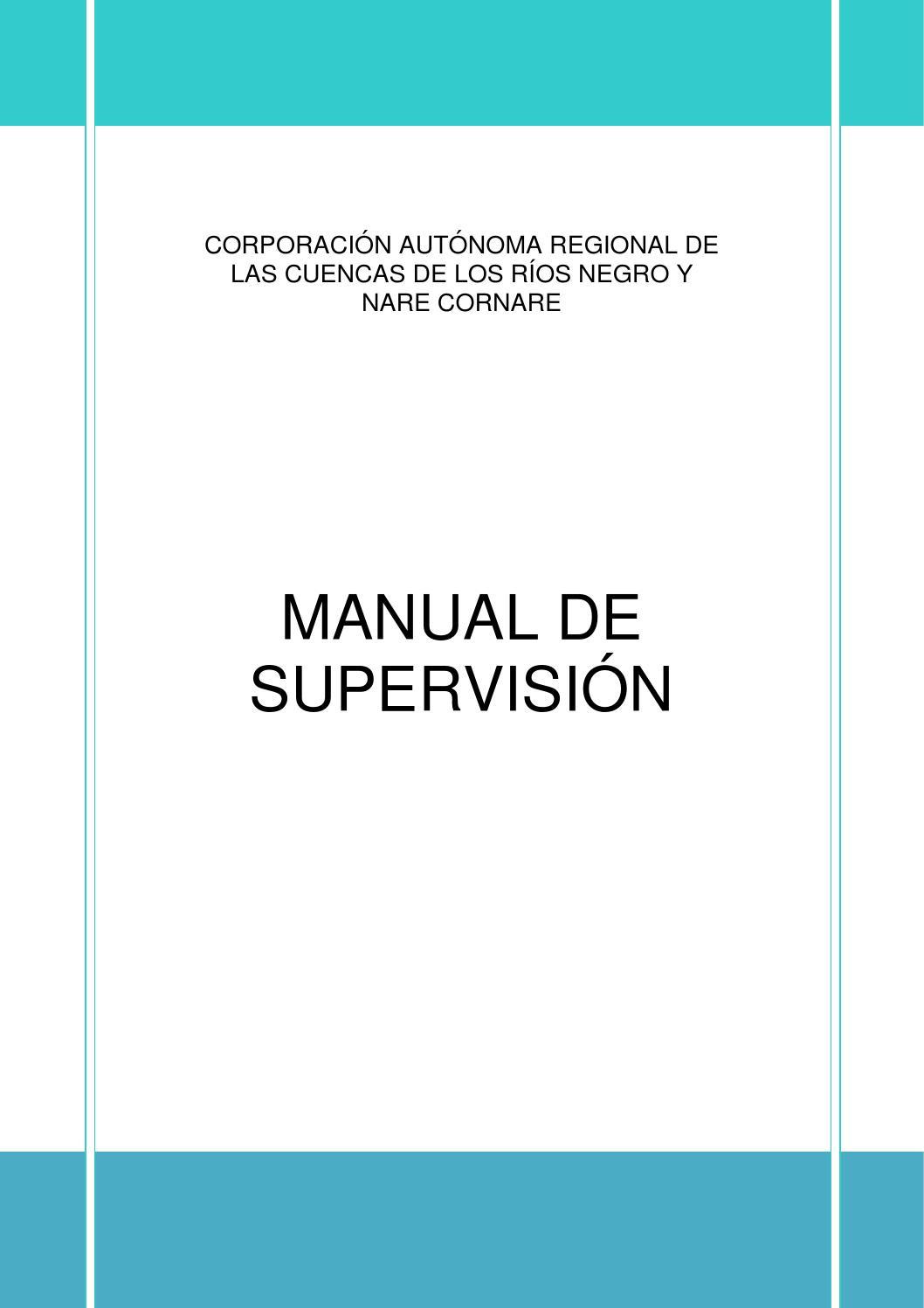 Manual Supervisión quinta edición 2013 by cornare - issuu