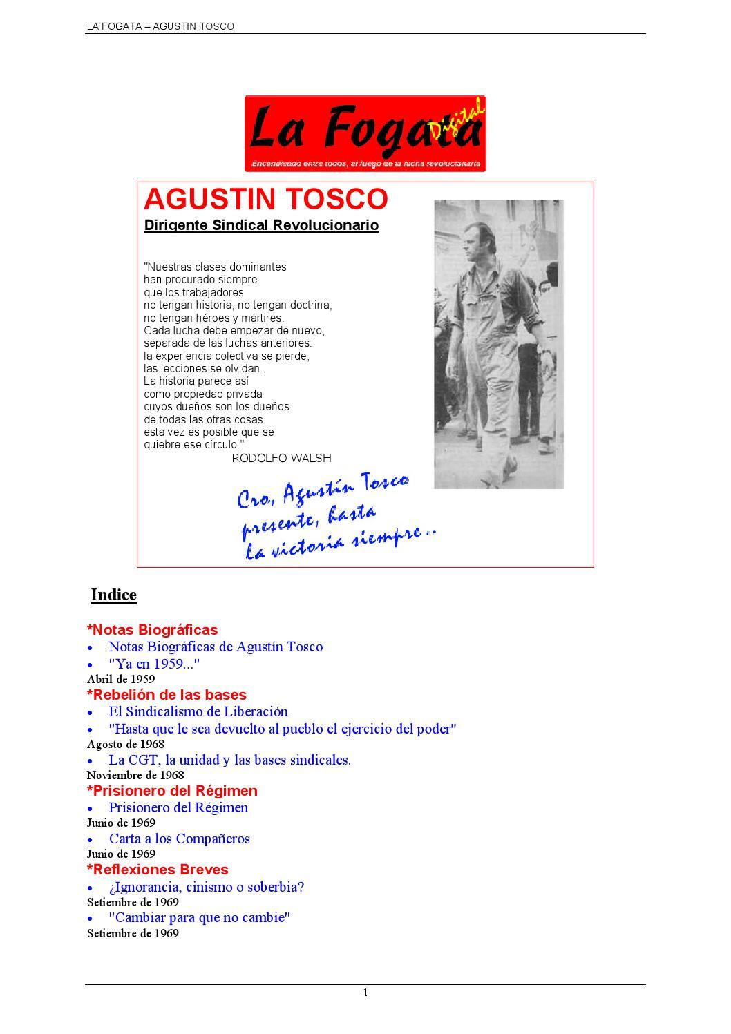 La Fogata - Tosco by Alvaro Sandoval - issuu f7de3c488c634