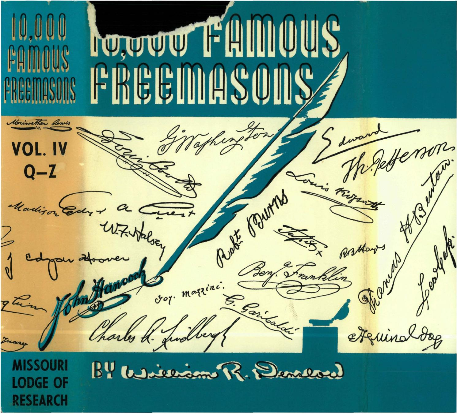 10,000 Famous Freemasons - Vol IV [Q to Z] by Missouri Freemasons