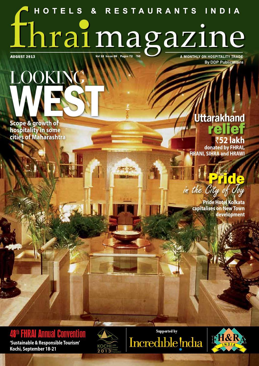 Fhrai magazine August Issue by Ashish Chakraborty - issuu
