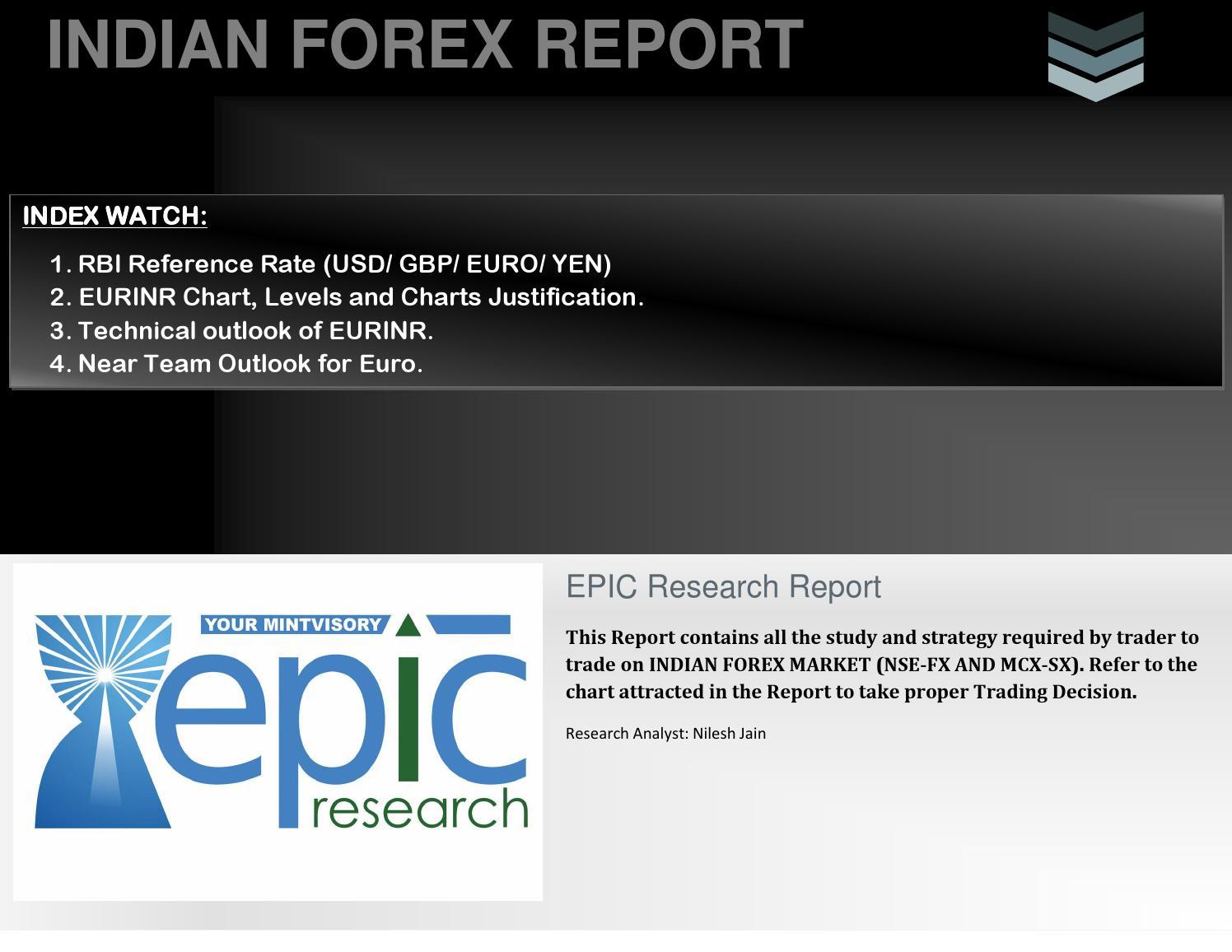 Forex report india