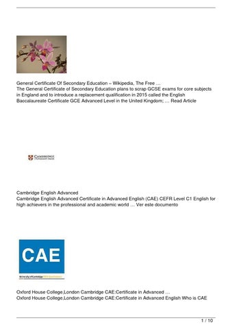 The General Certificate Of Secondary Education Plans To Scrap GCSE Exams For Core Subjects In England And Introduce A Replacement Qualification 2015