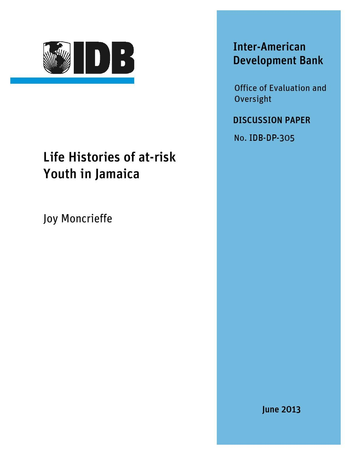 life histories of at-risk youth in jamaica by IDB - issuu