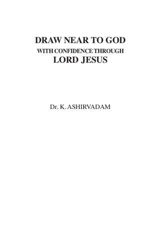 Asirvadam Prayer Book Draw Near To God By Shalem Arasavelli Issuu