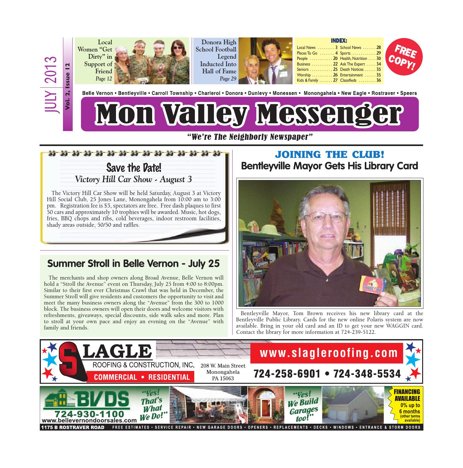 mon valley messenger july 2013 by south hills mon valley messenger issuu. Black Bedroom Furniture Sets. Home Design Ideas