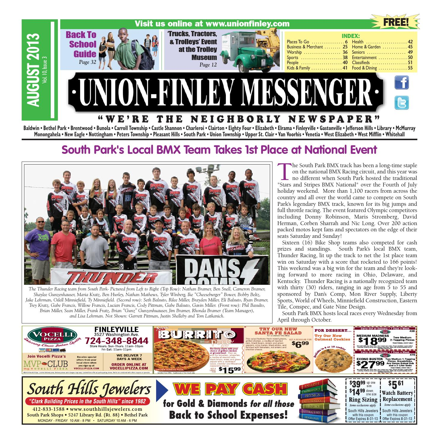 Union Finley Messenger August 2013 by South Hills Mon Valley