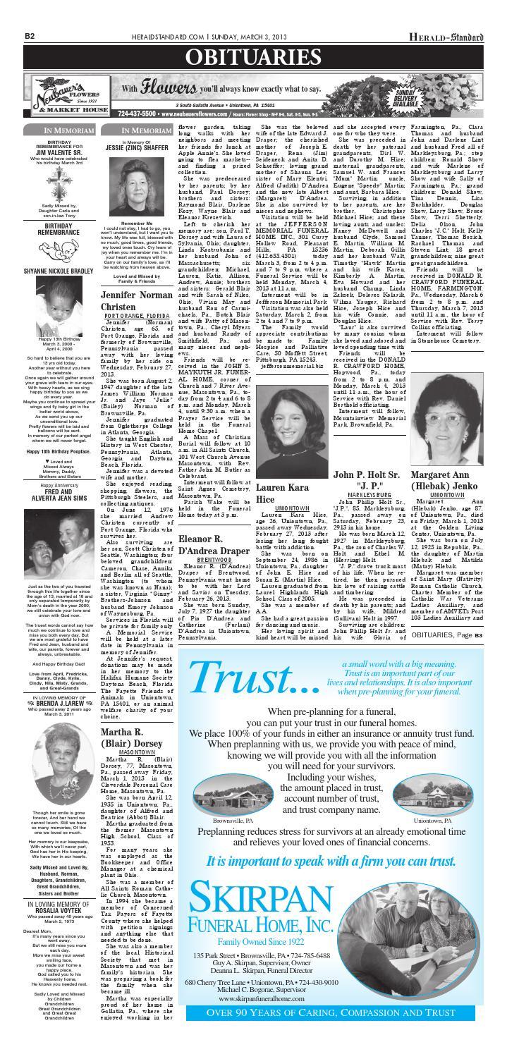 Herald-Standard March 3, 2013 by HSAds - issuu