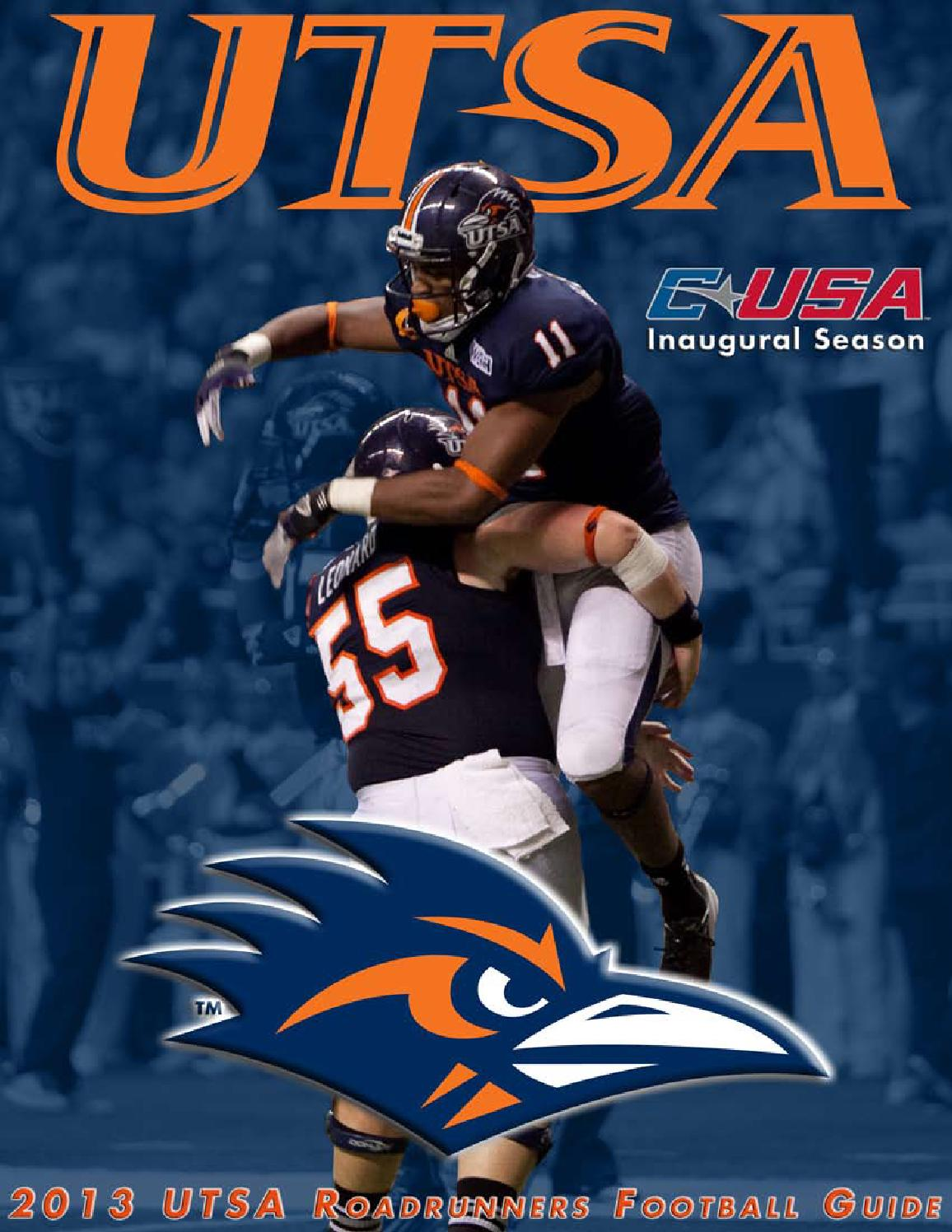 2013 UTSA Football Media Guide by UTSA Athletics Communications - issuu 12e1508eb