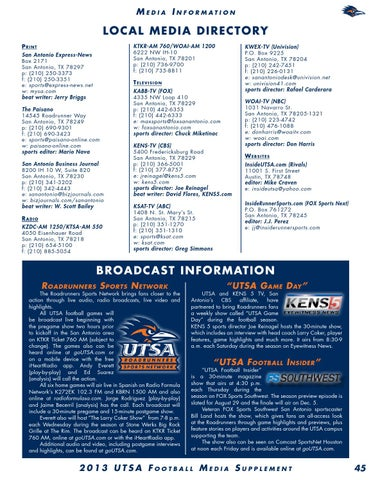 9434fcb39 2013 UTSA Football Media Guide by UTSA Athletics Communications - issuu