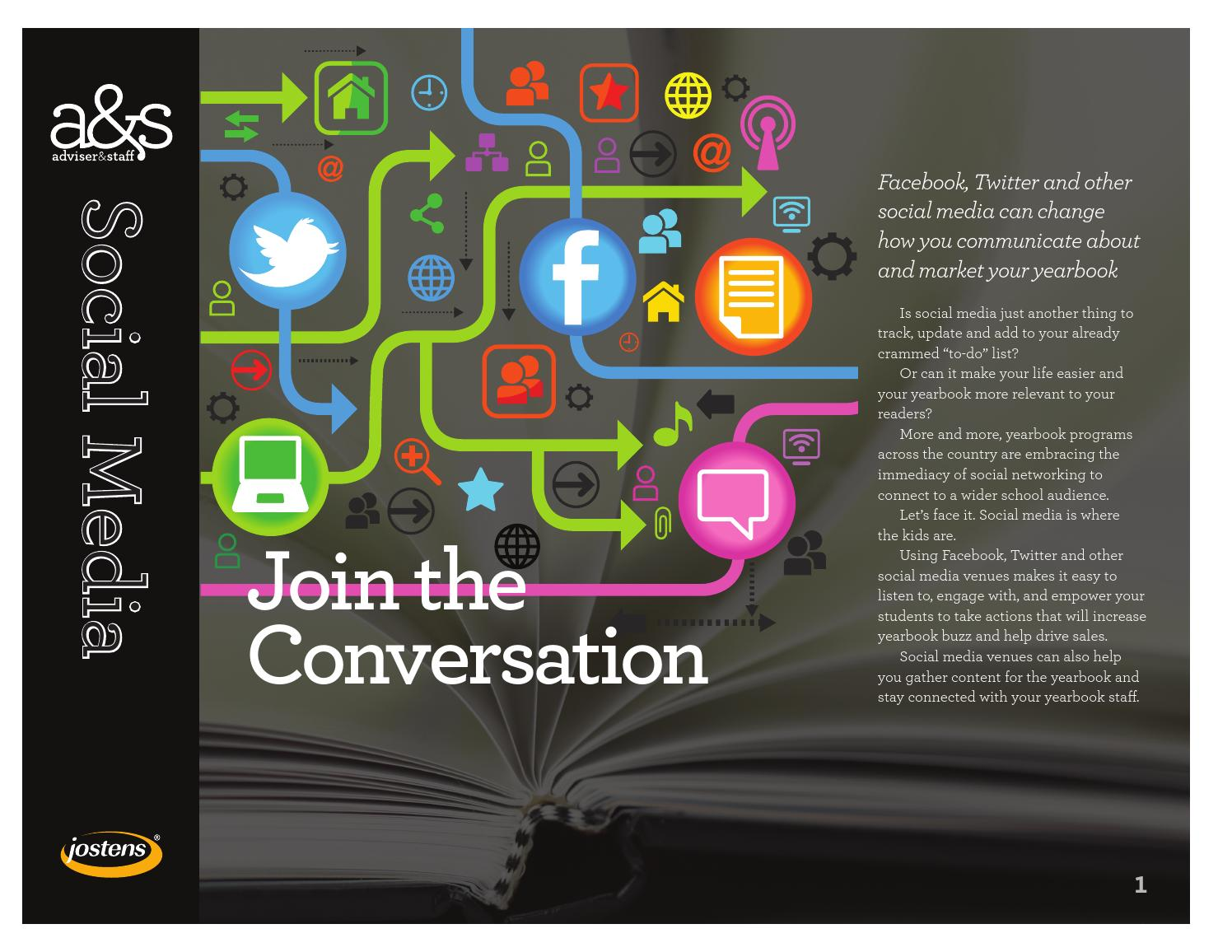 social media join the conversation by jostens yearbook issuu