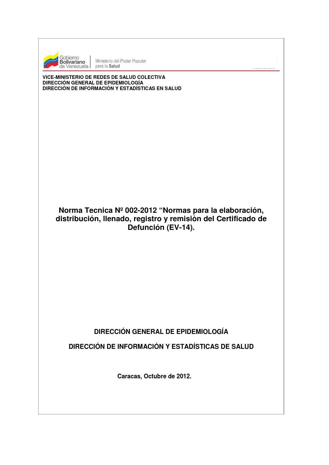 Normasyprocedimientosdedefuncion by Liseth Querales - issuu