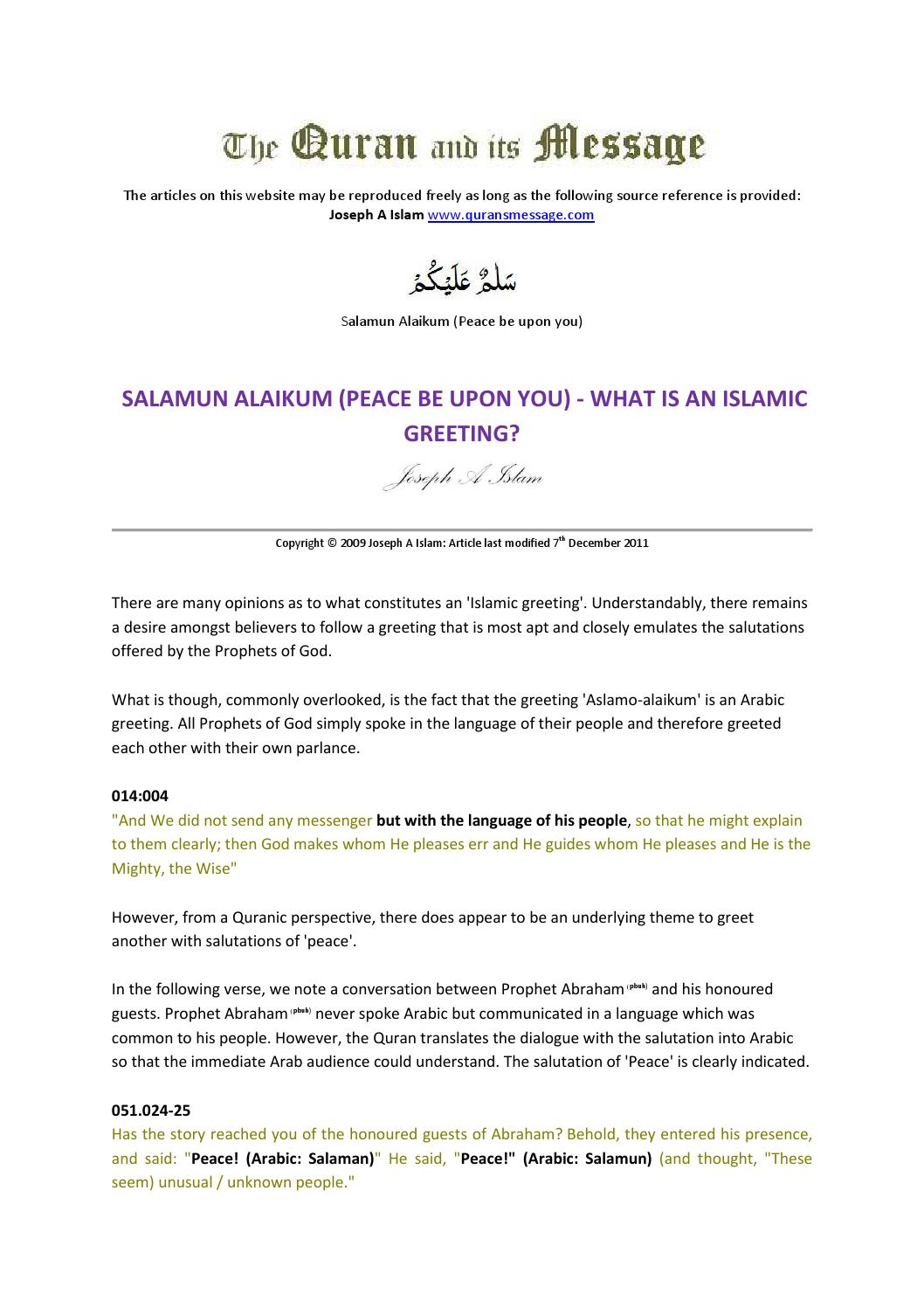 Salamun Alaikum By Simone Powers Issuu