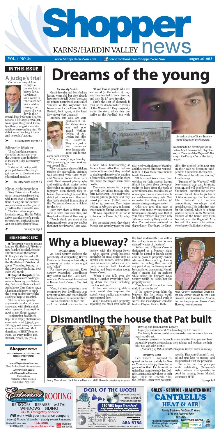 Karns hardin valley shopper news 082613 by shopper news for A bedroom in the wee hours of the morning