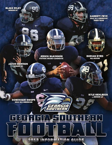 Georgia Southern University Store >> Georgia Southern Football 2013 Information Guide by ...