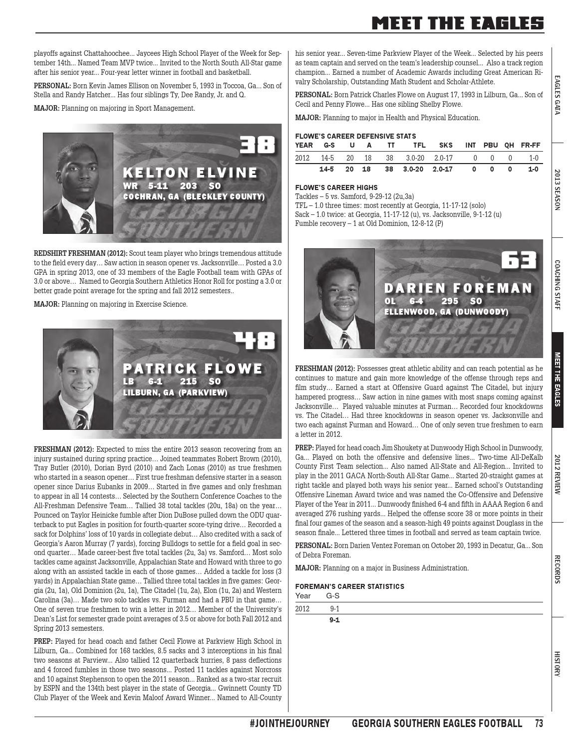 Georgia Southern Football 2013 Information Guide By Georgia Southern Athletics Issuu