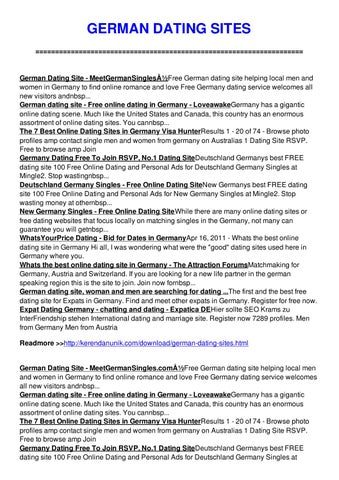 100 free online german dating sites